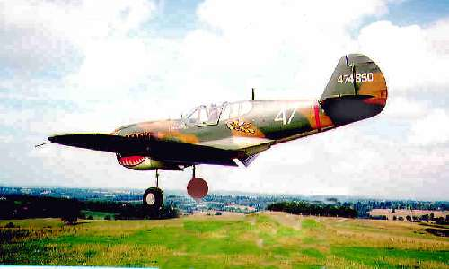 curtiss p40 kittykawk flying scale model aircraft