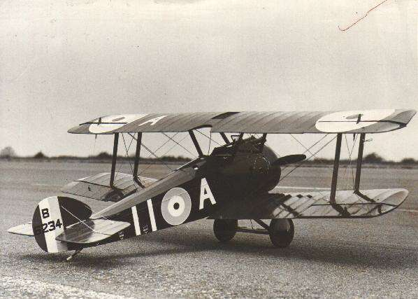 sopwith camel flying scale model aircraft