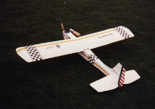sterling models gazariator radio controlled model aeroplane