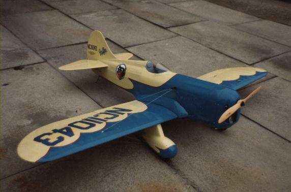 gee bee model d sportster flying scale mode aircraft