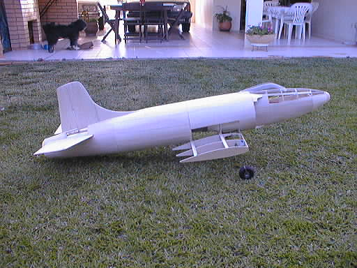 supermarine attacker ducted fan flying scale model aircraft