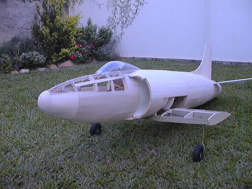 supermarine attacker ducted fan flying scale model aeroplane