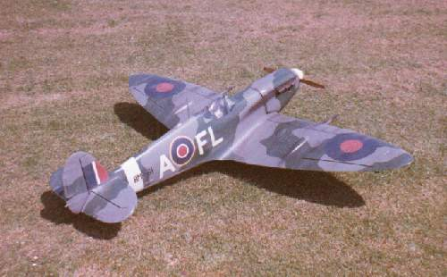 db models supermarine spitfire radio controlled scale model aircraft